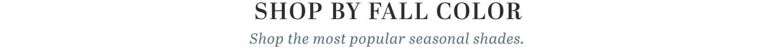Shop Fall Colors Title image