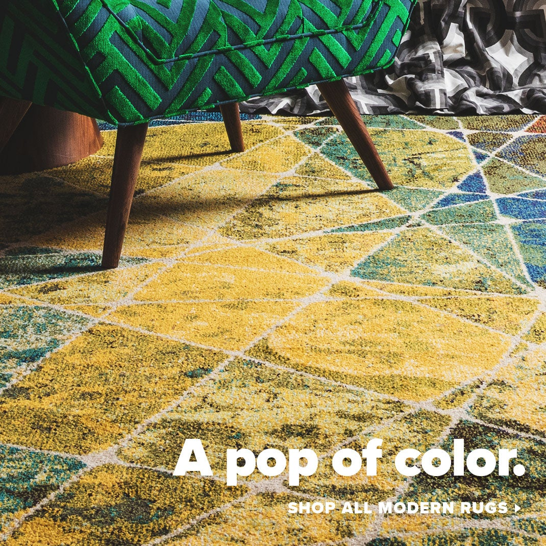 Modern Rugs - Pop of color image