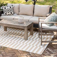 Outdoor Striped Rugs image