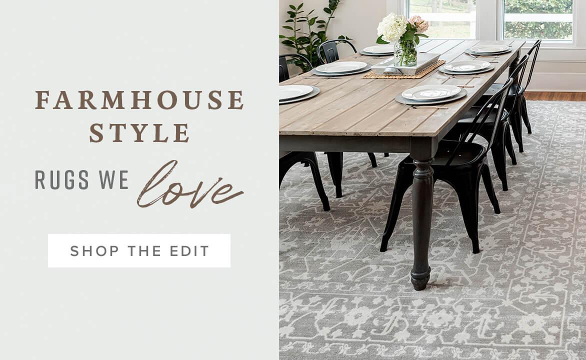 Farmhouse rugs collection