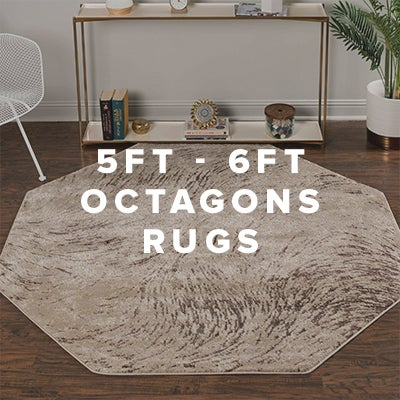 5ft - 6ft Octagon Rugs