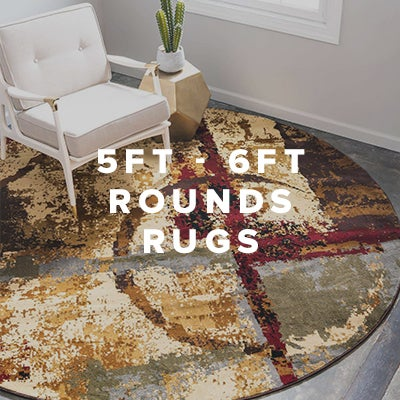 5ft - 6ft Round Rugs