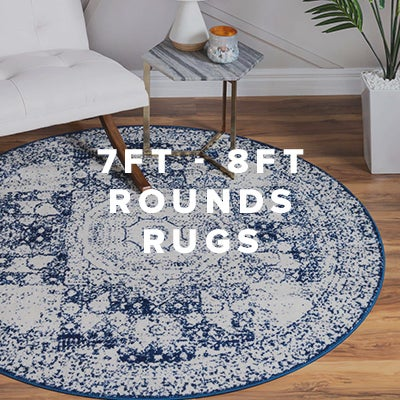 7ft - 8ft Round Rugs