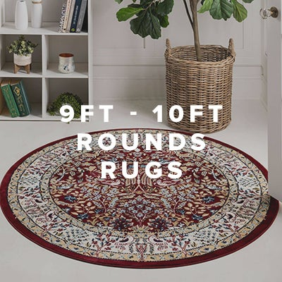 9ft - 10ft Round Rugs