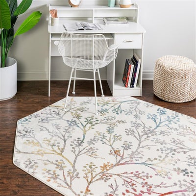 Floral Octagon Rugs